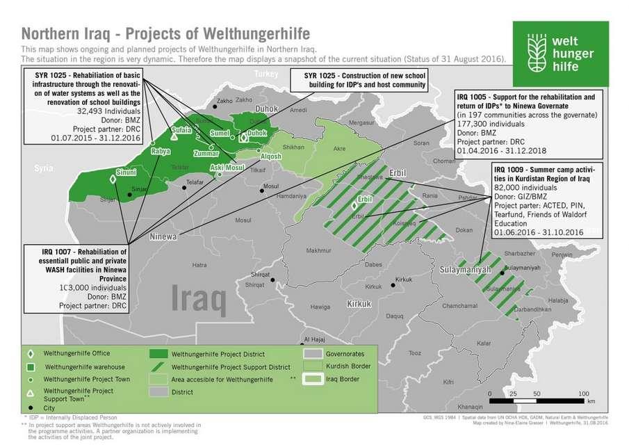 Shingal Irak Karte.Kurdistan Eine Woche Im Nordirak Welthungerhilfe