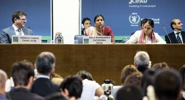 Zala Shardaben Fathesinh at the Opening Ceremony of the 45th Session of the Committee on World Food Security