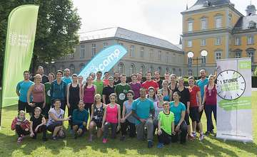 Gruppenfoto beim Charity-Training in Bonn