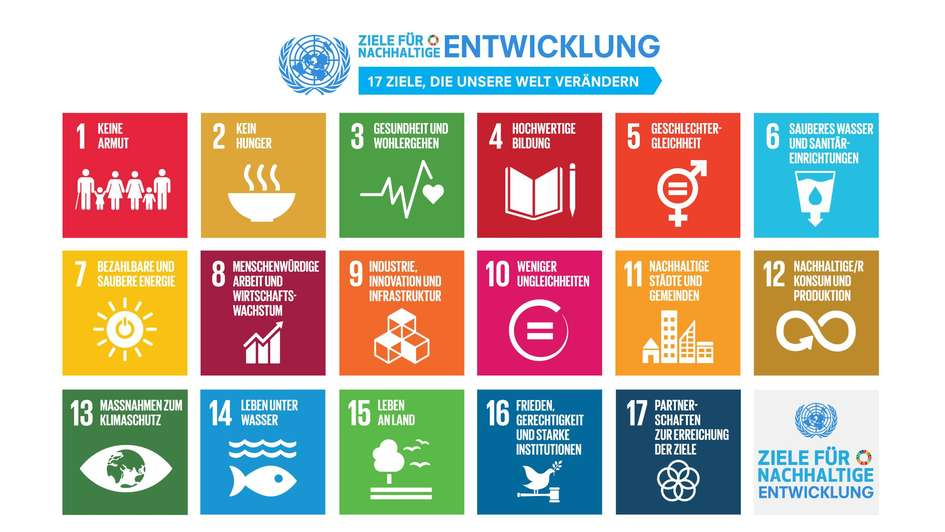 Grafik: Auflistung der Sustainable Development Goals