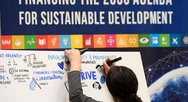 Grafik: Financing the 2030 agenda for sustainable development